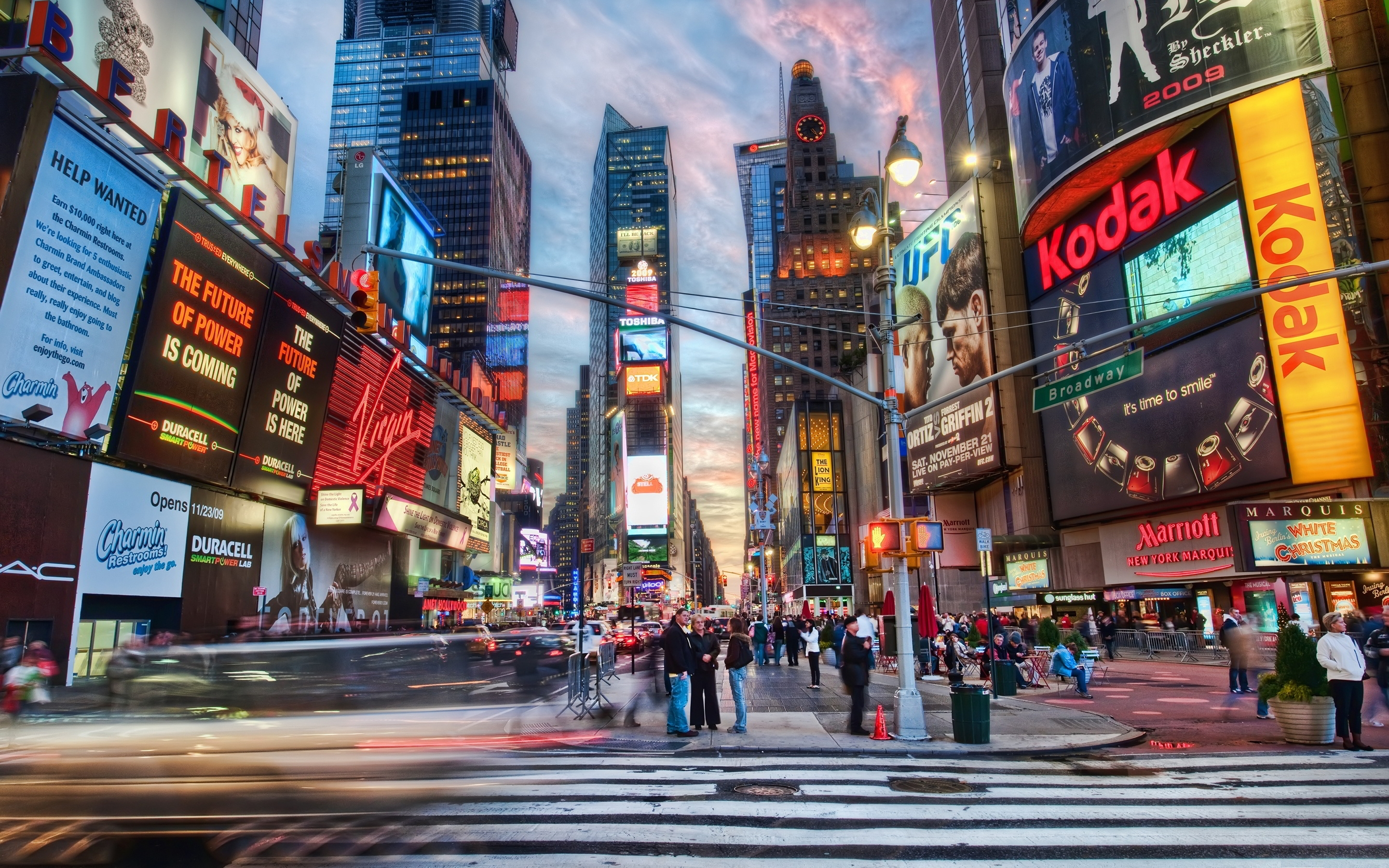 download times square widescreen wallpaper 51018 2880x1800 px high