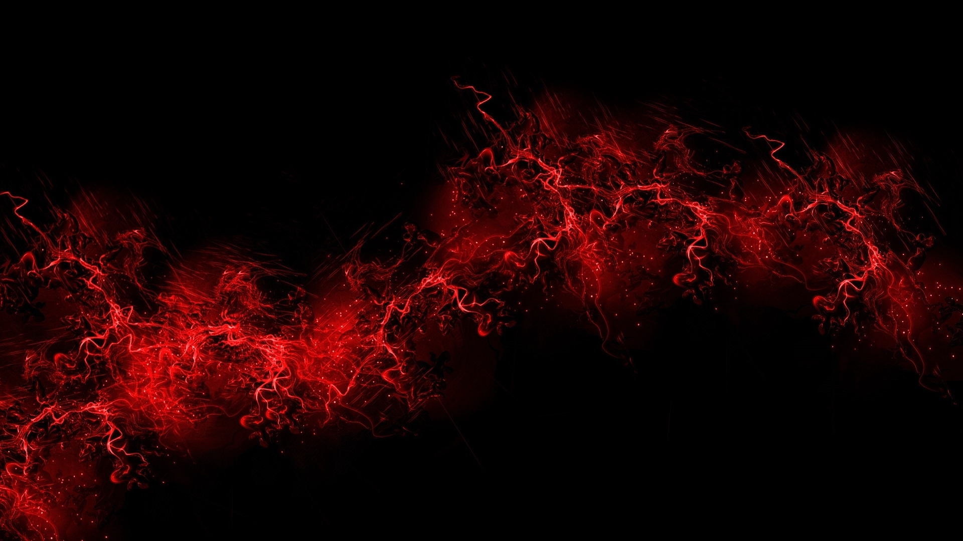 download wallpaper 1920x1080 black background, red, color, paint