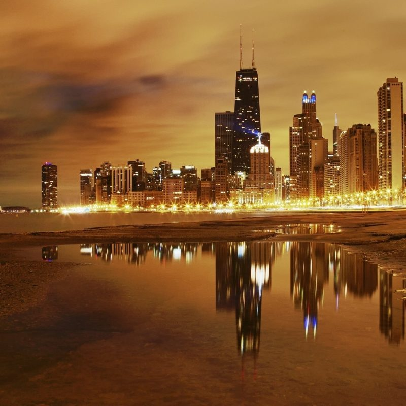 10 Most Popular Chicago Skyline Wallpaper 1920X1080 FULL HD 1080p For PC Background 2018 free download download wallpaper 1920x1080 city chicago night lights lake 800x800