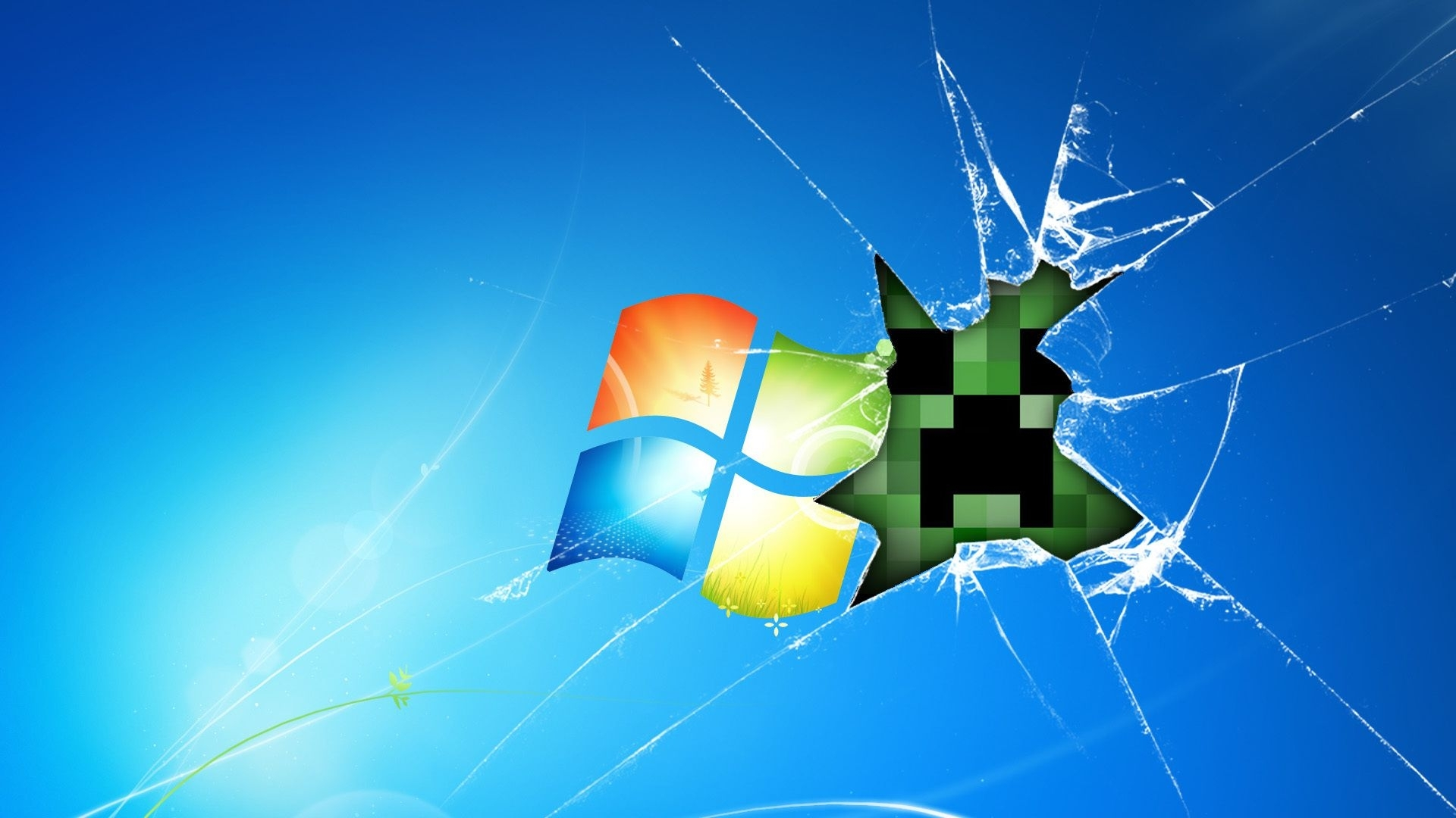 download wallpaper 1920x1080 windows, minecraft, game, glass