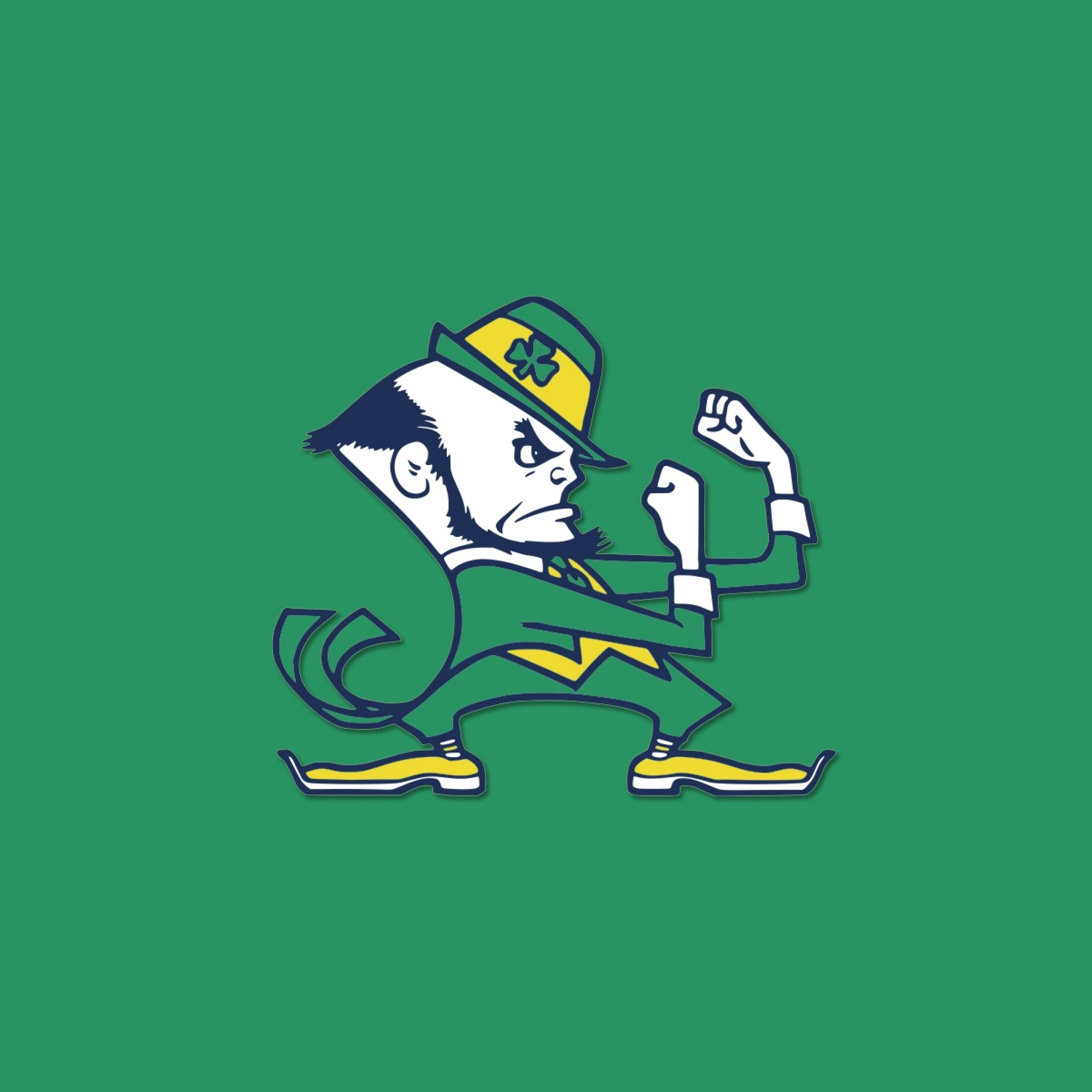 download wallpaper 2048x2048 notre dame fighting irish, logo | epic