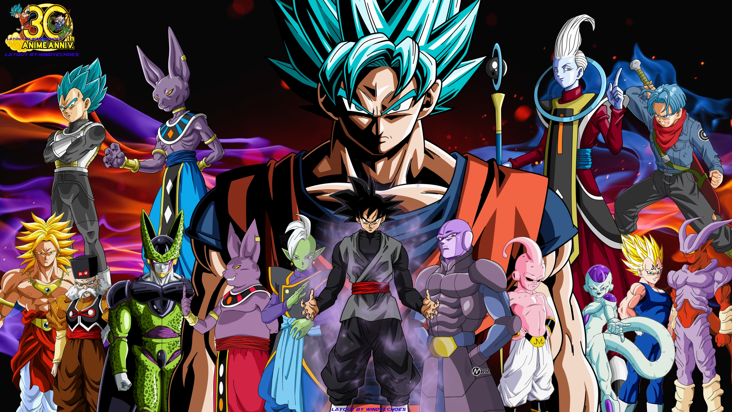 dragon ball super full hd wallpaper and background image | 2560x1440