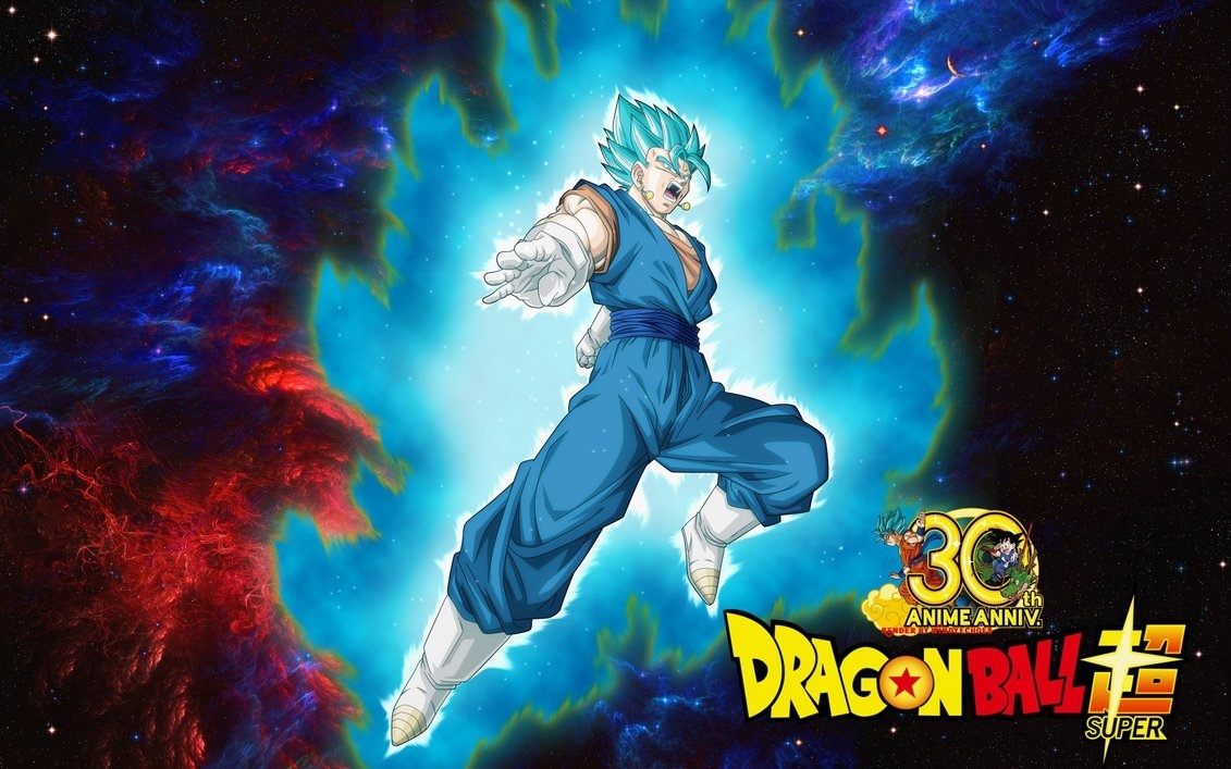 dragon ball super wallpaper - vegito saiyan bluewindyechoes on