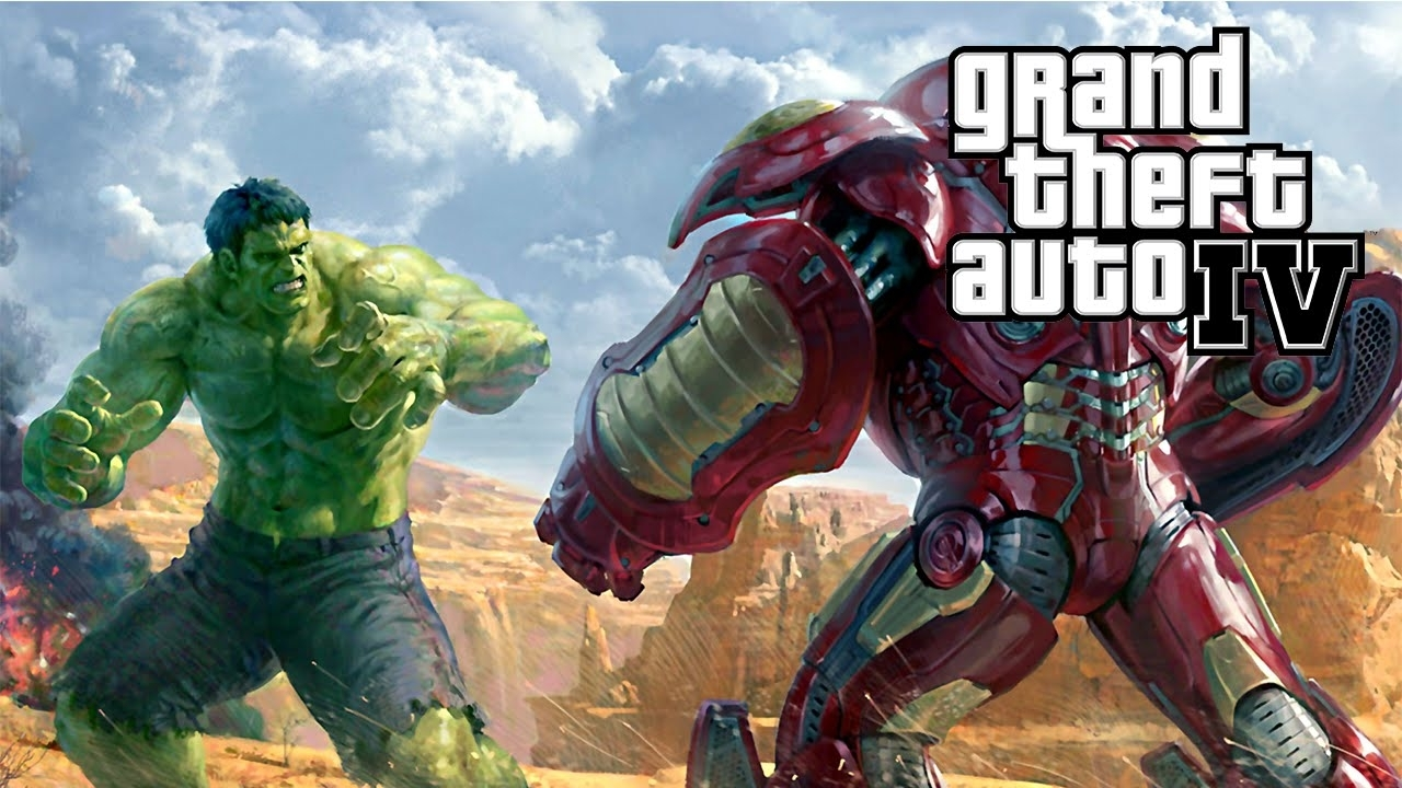 duelo iron man hulkbuster vs hulk - gta mods - youtube