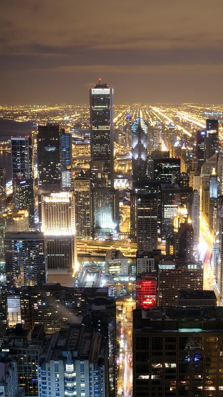 ↑↑tap and get the free app! shining city night chicago skyline