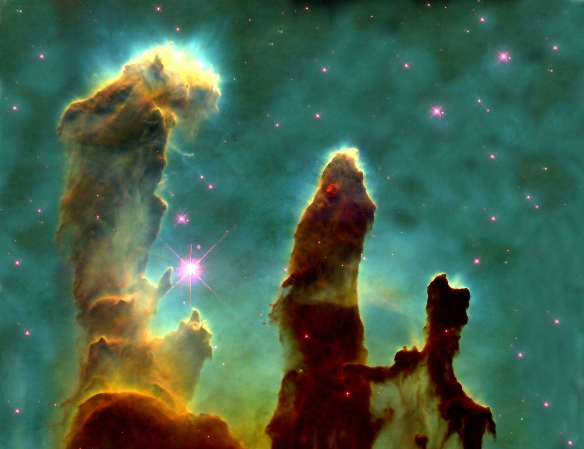 eagle nebula pillars of creation gas cloud hd wallpaper | wallpapers