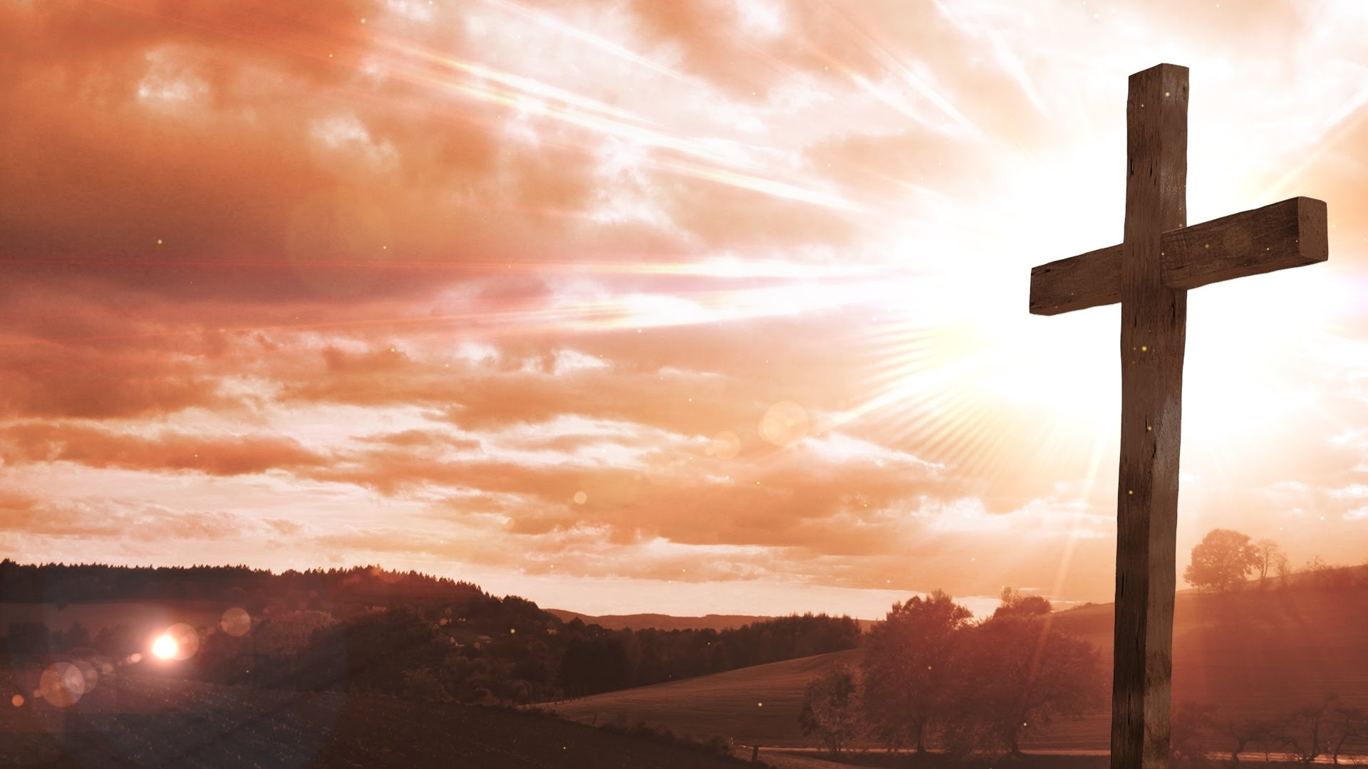 easter cross - worship background loop - motion graphics - animation