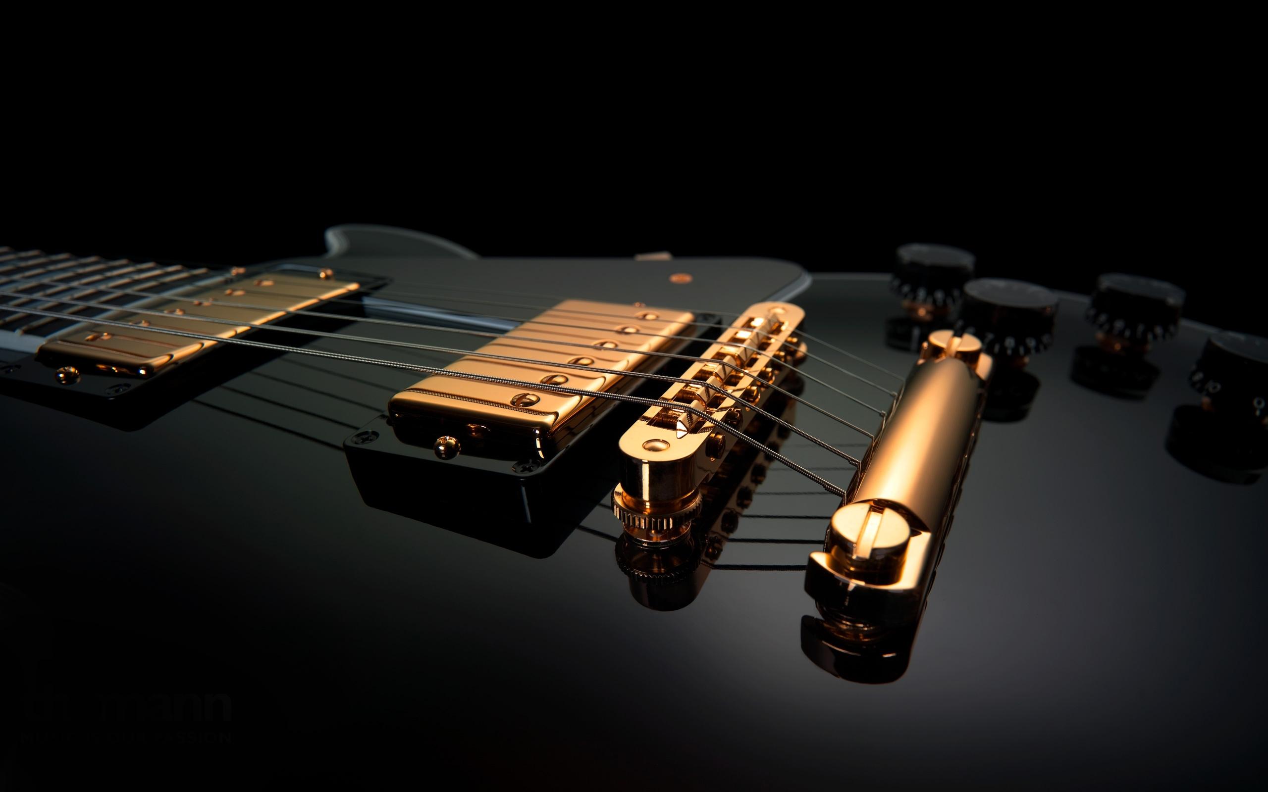 ecran hd guitare électrique noir gibson musique wallpaper desktop