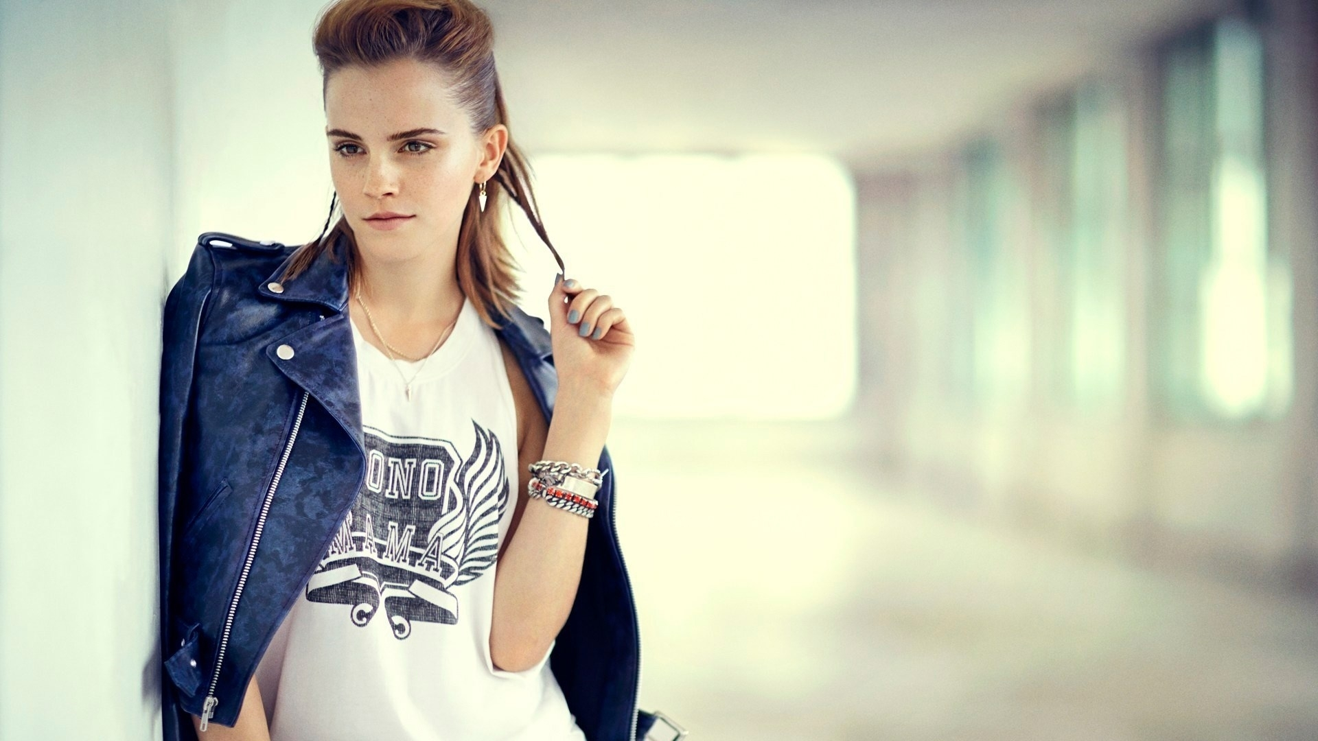 emma watson stylish pose look background mobile hd free desktop images