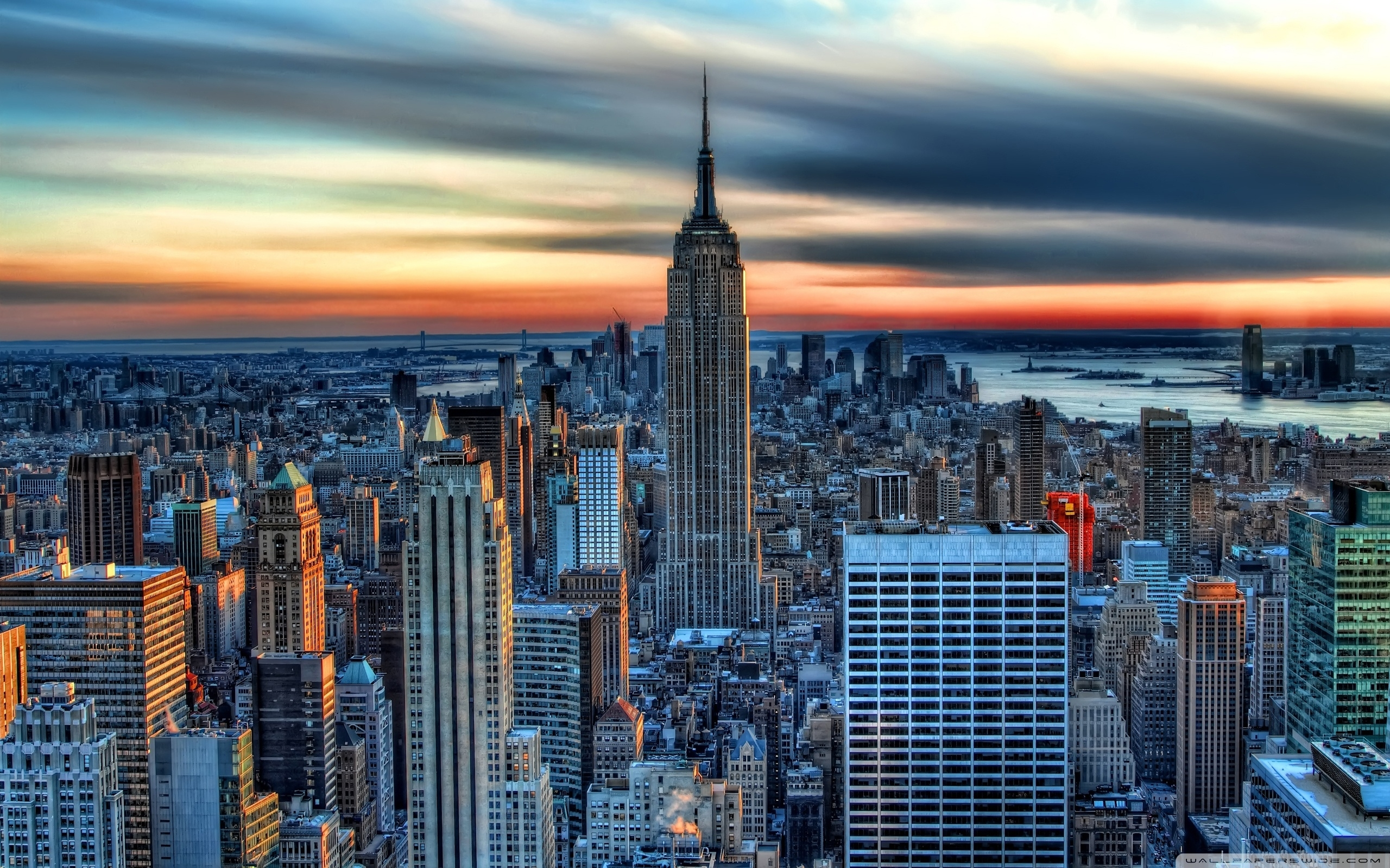 empire state building hdr ❤ 4k hd desktop wallpaper for 4k ultra hd