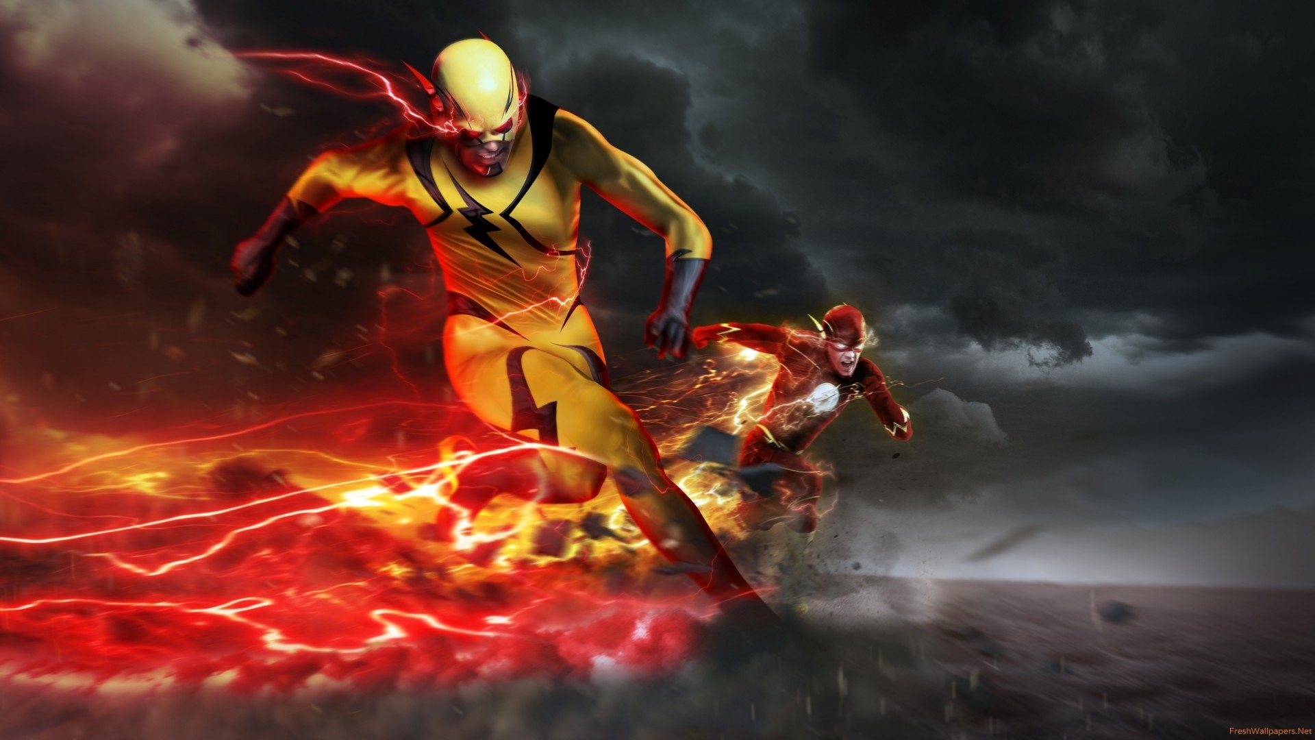 eobard thawne as professor zoom in the flash wallpapers