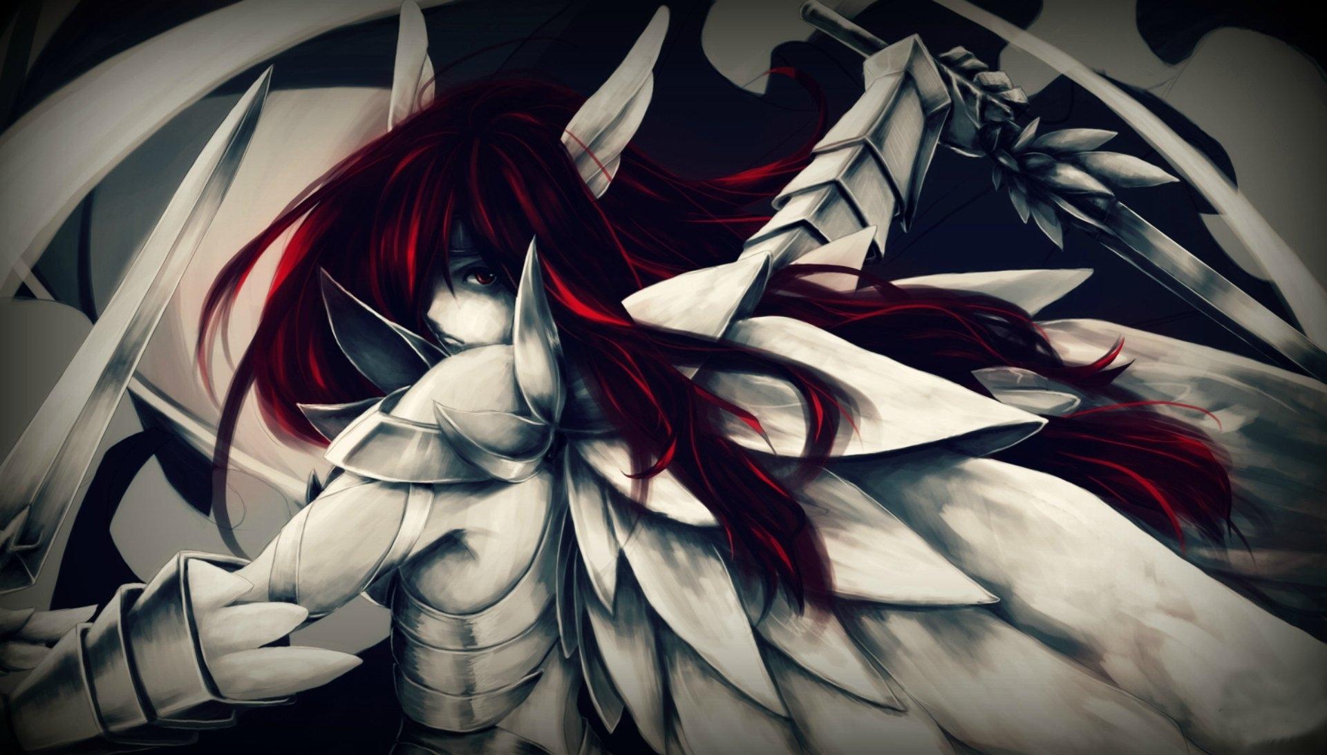 erza scarlet - heaven's wheel armor full hd fond d'écran and arrière