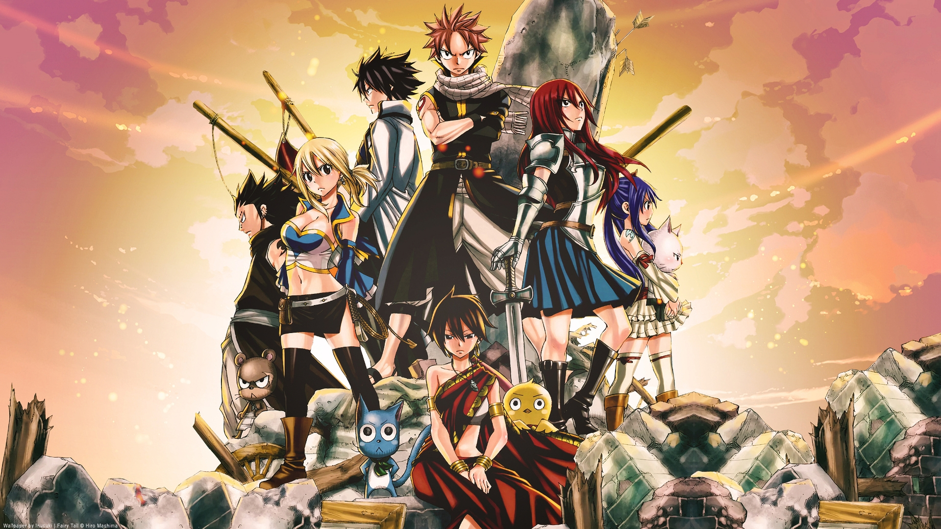 fairy tail the movie: phoenix priestess full hd wallpaper and