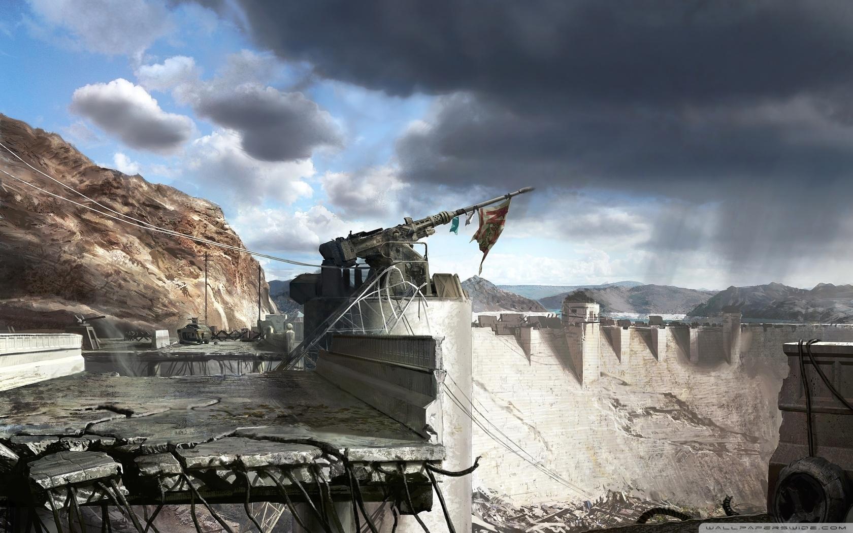 fallout new vegas hoover dam concept art ❤ 4k hd desktop wallpaper