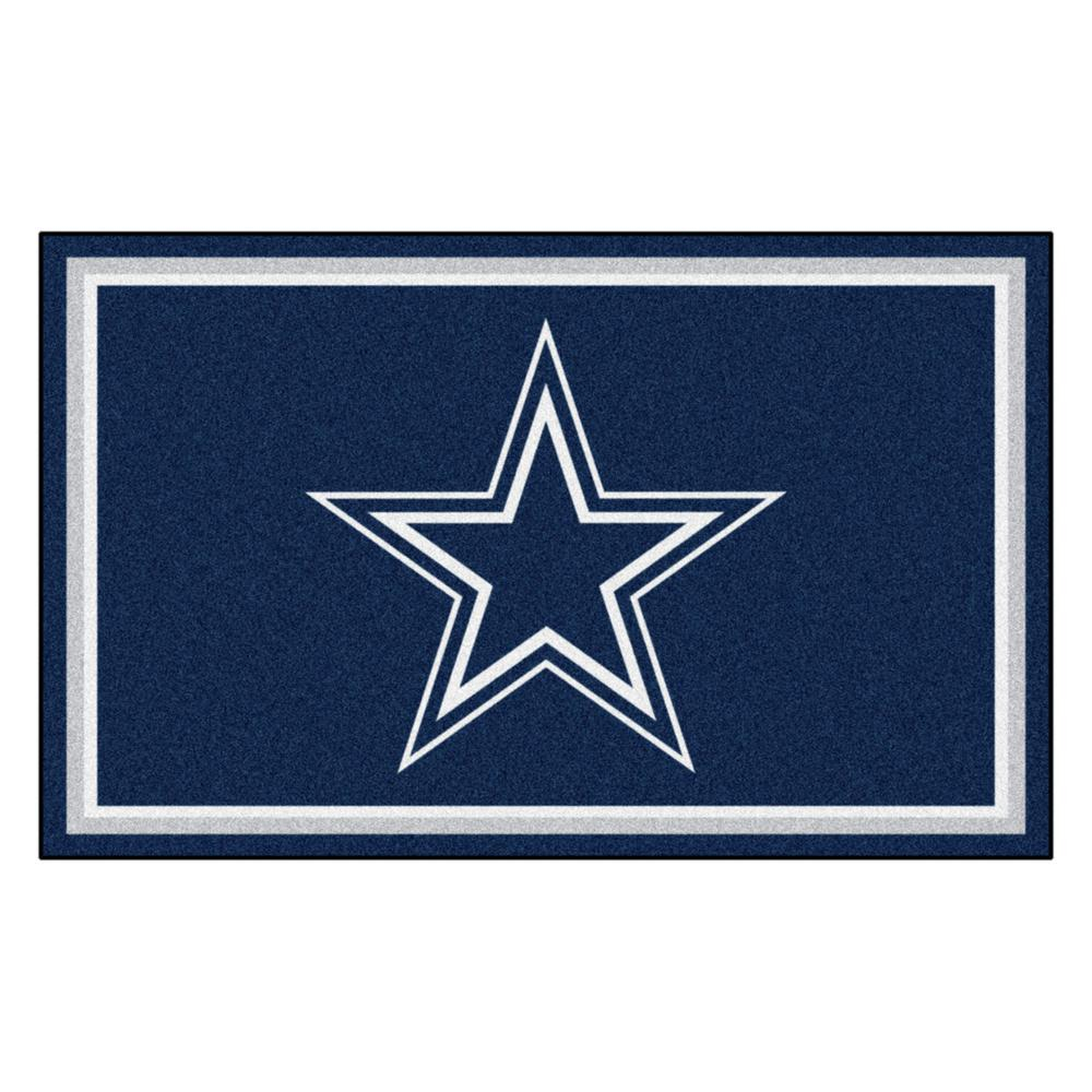 fanmats dallas cowboys 4 ft. x 6 ft. area rug-6270 - the home depot