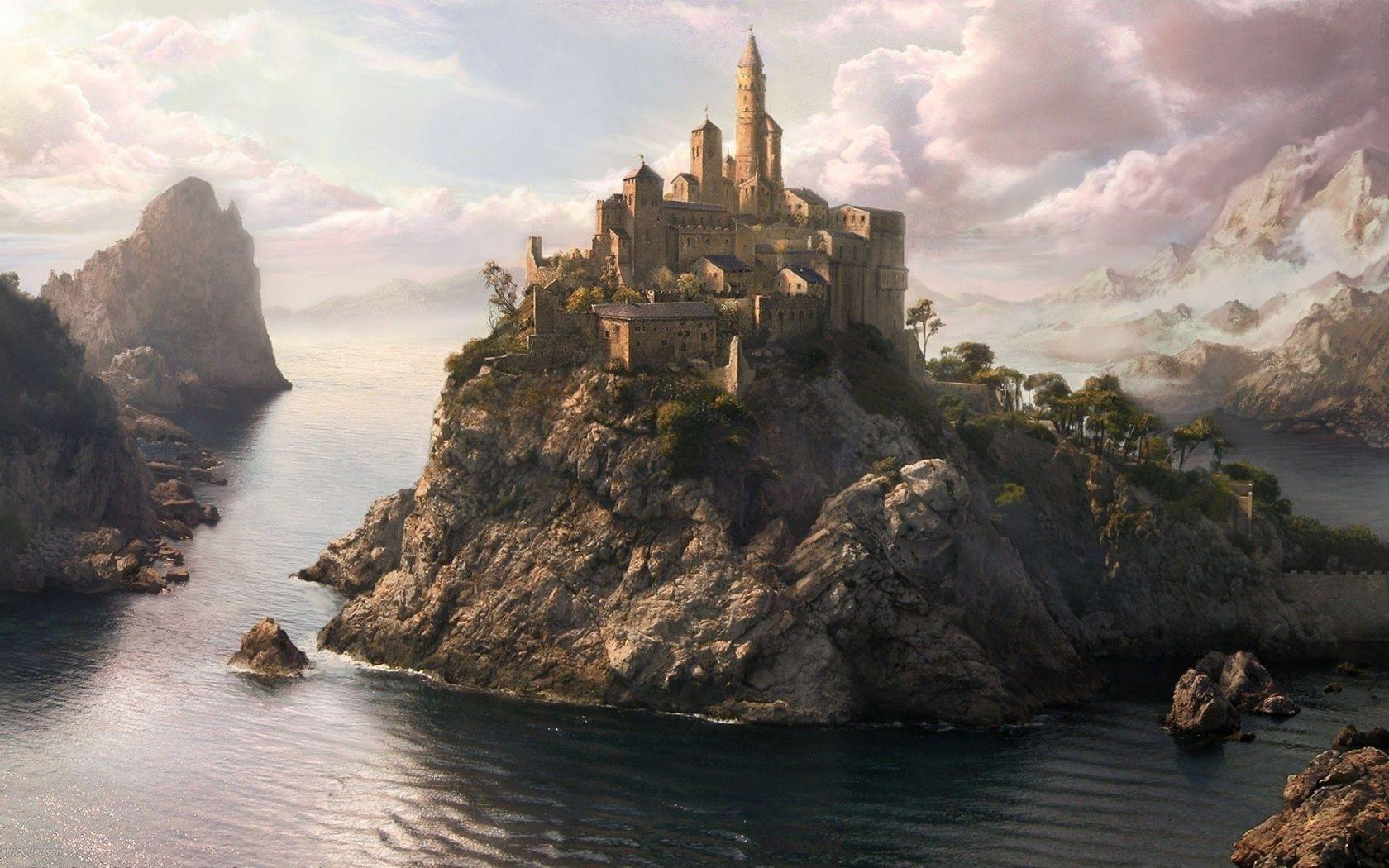 fantasy castle landscape wallpaper | wallpapers gallery