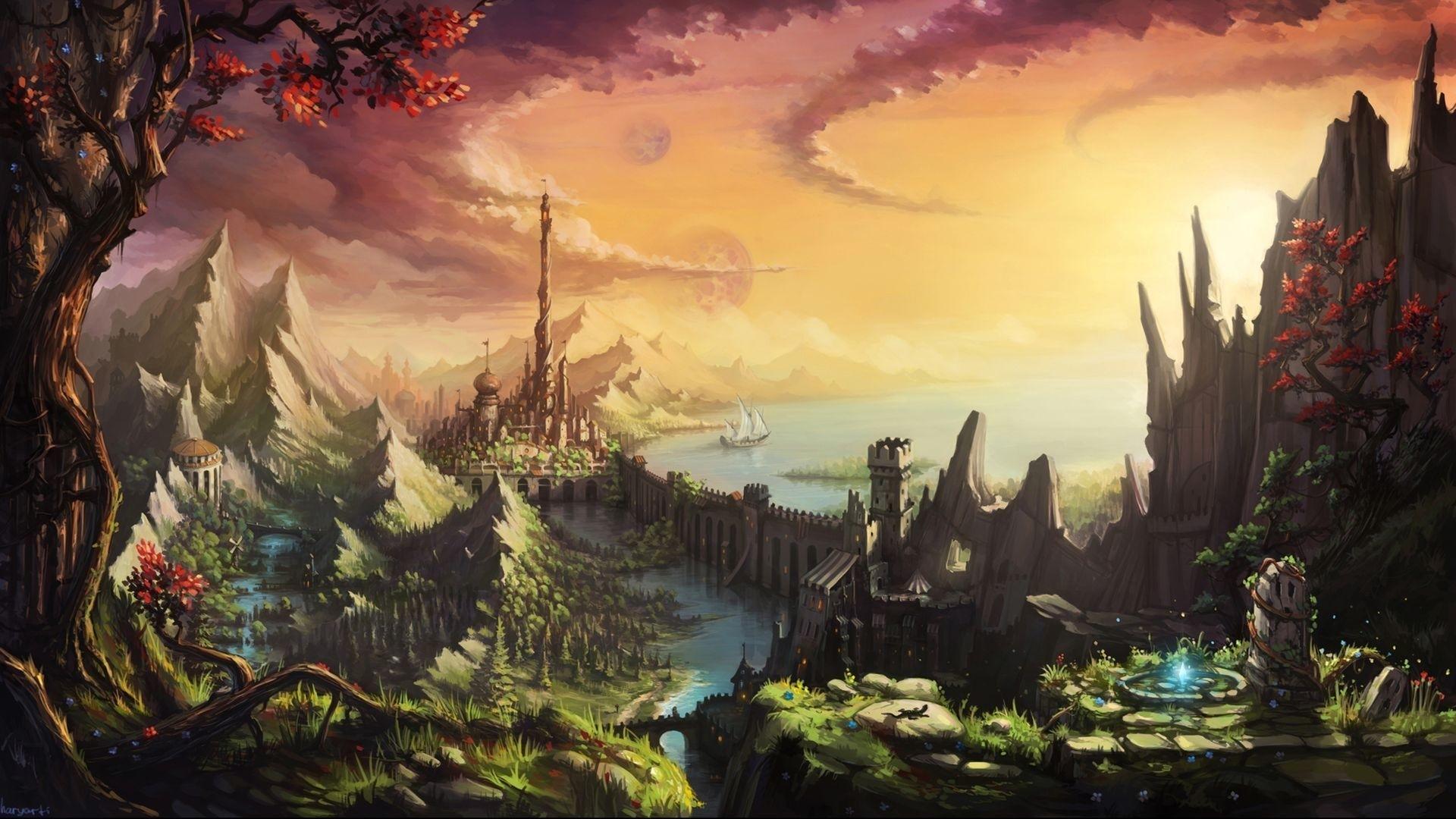 fantasy castle wallpaper hd (80+ images)