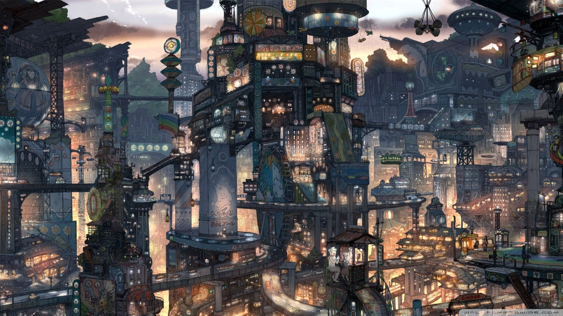 10 Latest Fantasy City Wallpaper 1920x1080 Full Hd 1080p For