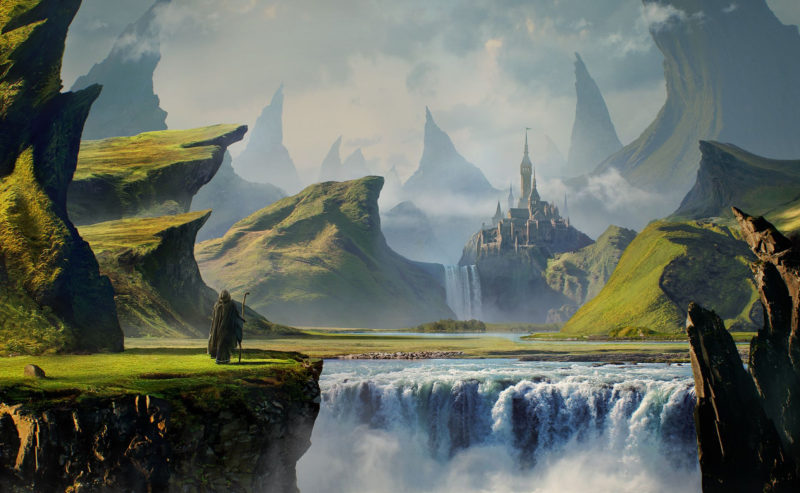 10 New Fantasy Castle Landscape Backgrounds FULL HD 1920×1080 For PC Background 2018 free download fantasy landscape pilgrim gothic mountain waterfall castle fantasy 800x493