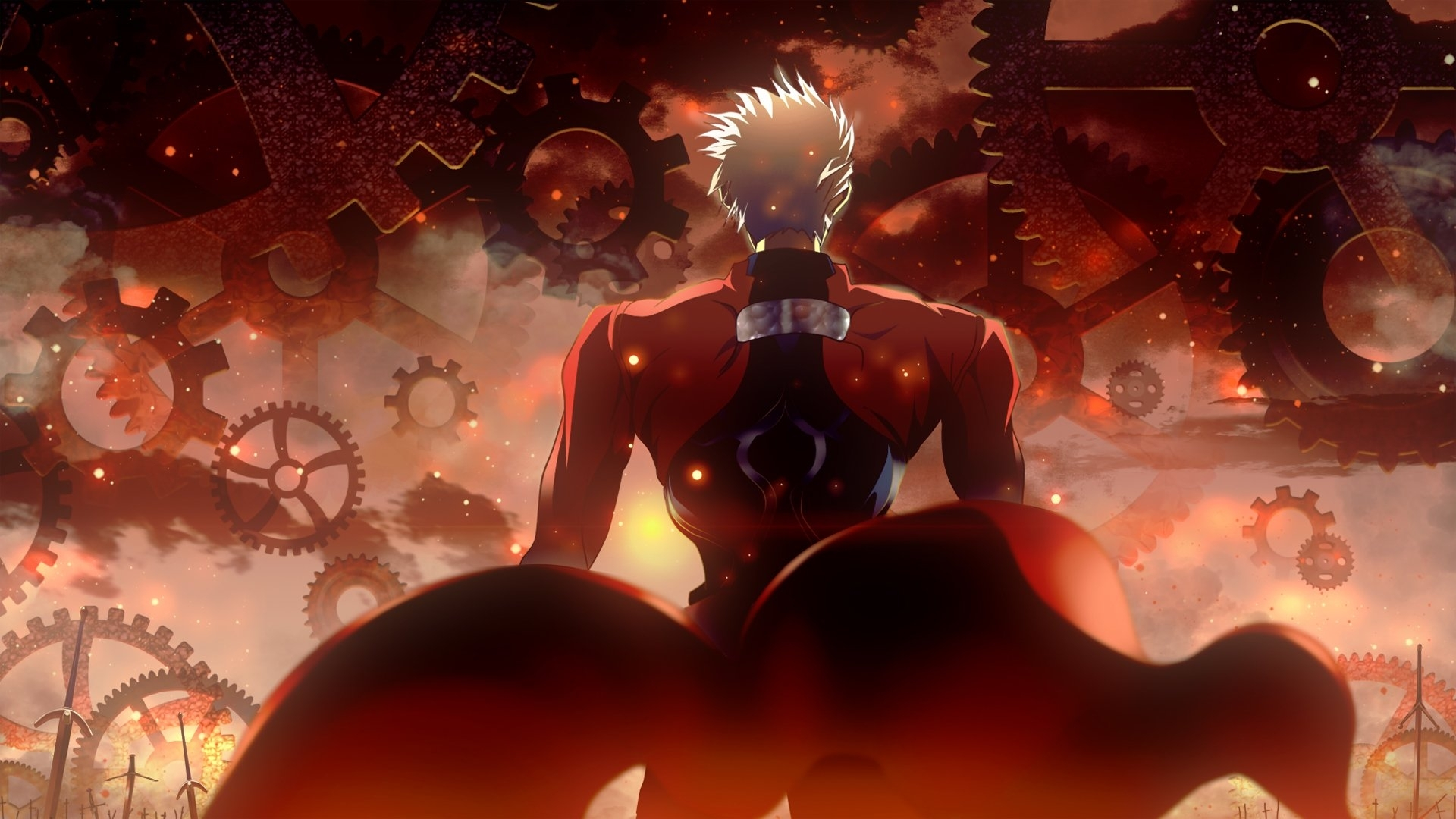 fate/stay night: unlimited blade works full hd fond d'écran and