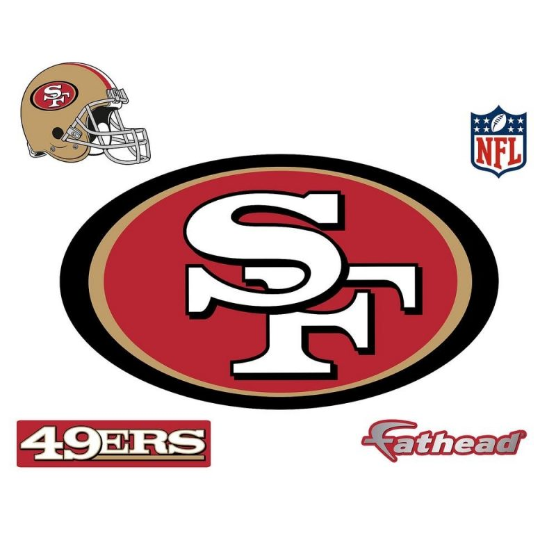 10 Latest Images Of The 49Ers Logo FULL HD 1920×1080 For PC Desktop 2018 free download fathead 28 in h x 48 in w san francisco 49ers logo wall mural 14 800x800