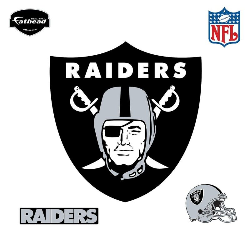 10 Most Popular Oakland Raiders Logo Pics FULL HD 1080p For PC Background 2018 free download fathead 40 in h x 38 in w oakland raiders logo wall mural 14 14025 800x800