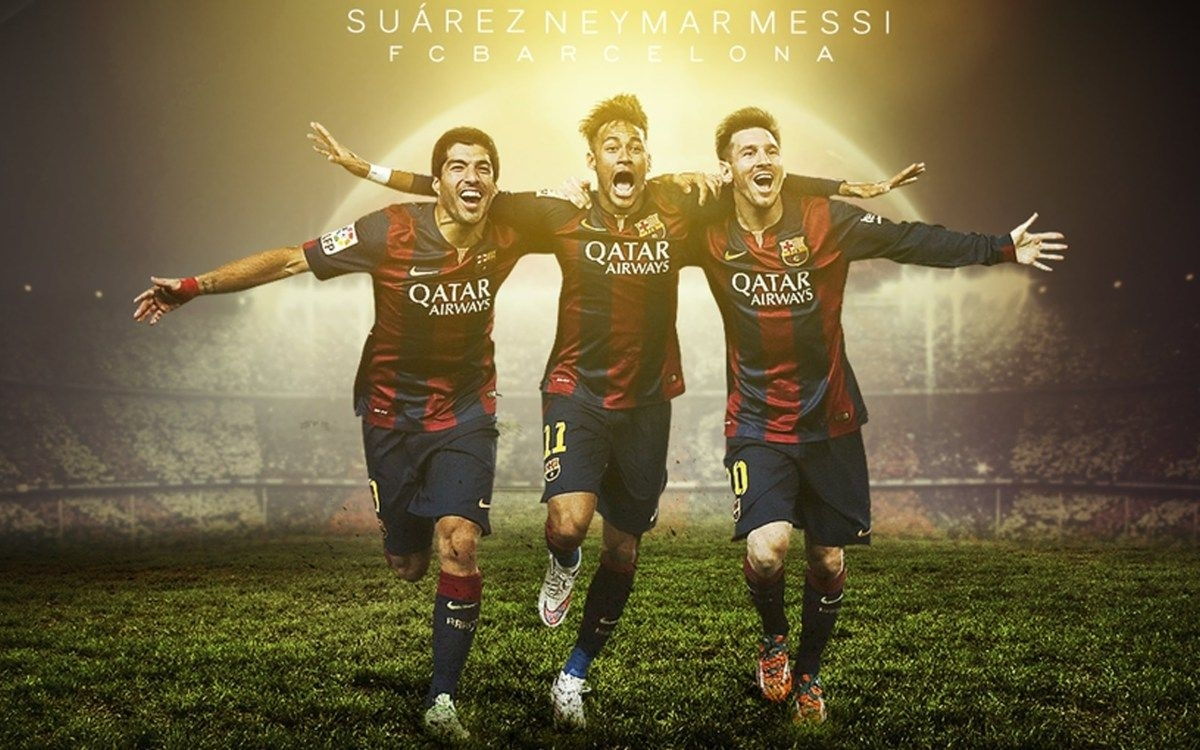 fc barcelona neymar messi suarez wallpaper hd | wallpapers