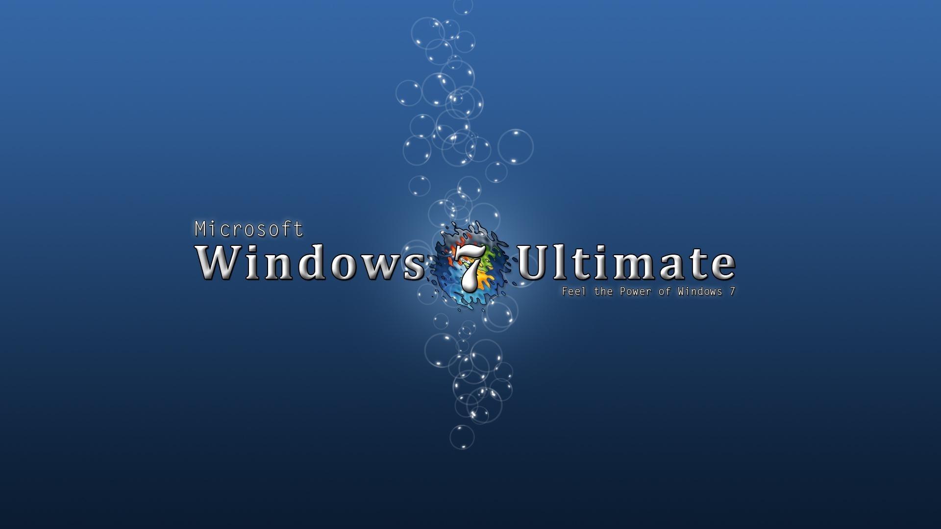 fenêtres bleues 7 ultimate de fond d'écran hd de bureau: widescreen