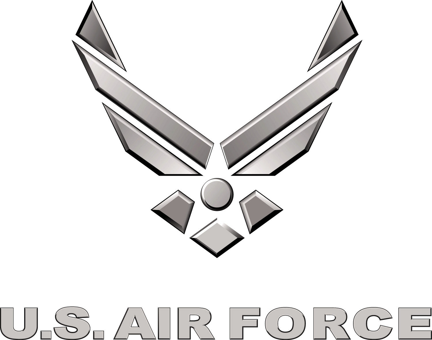 fichier:us air force logo silver — wikipédia