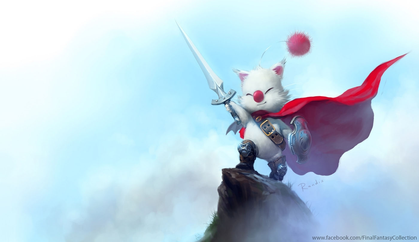 final fantasy moogle art in wallpaper format |