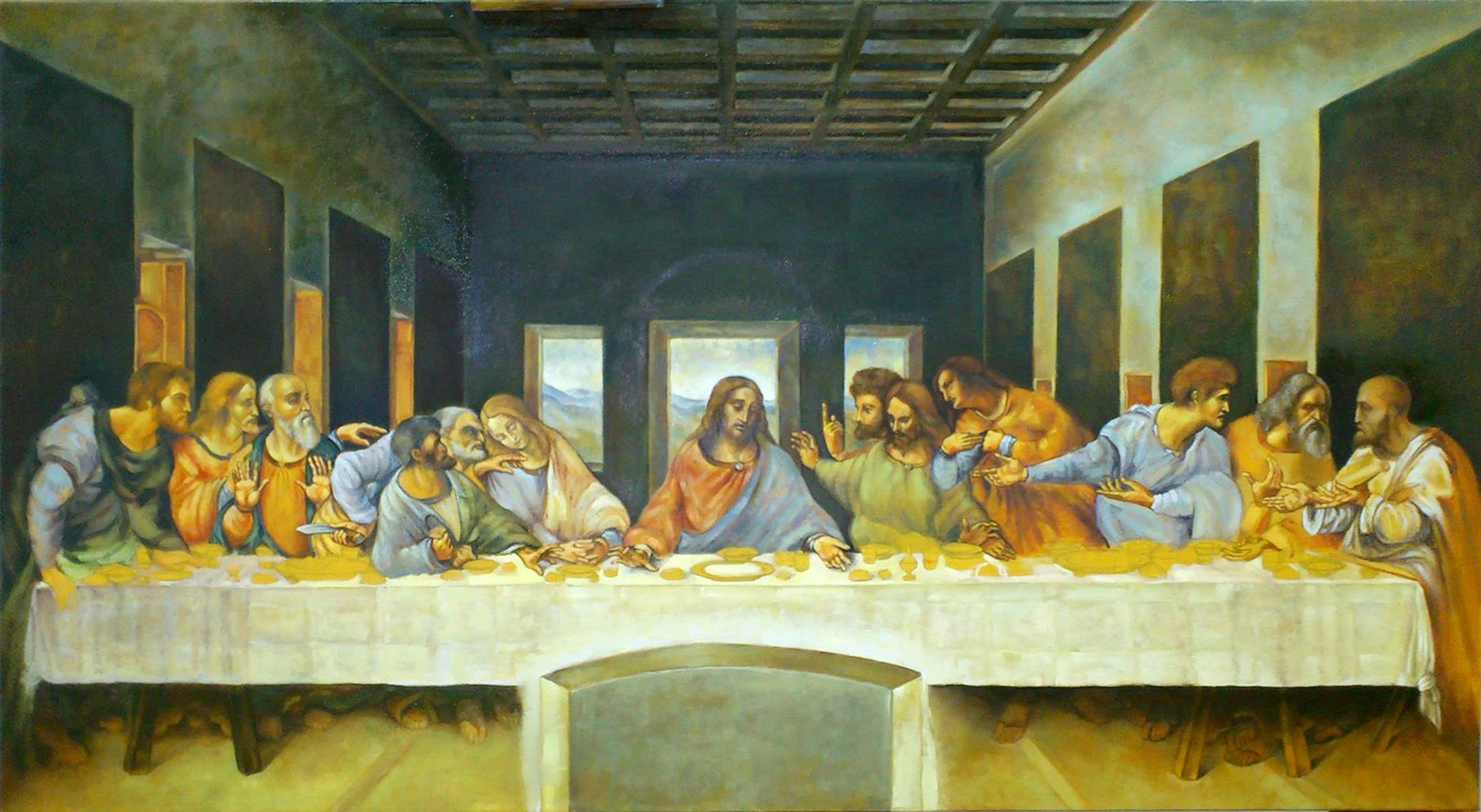 fine art - last supper - original oil painting on canvasartist