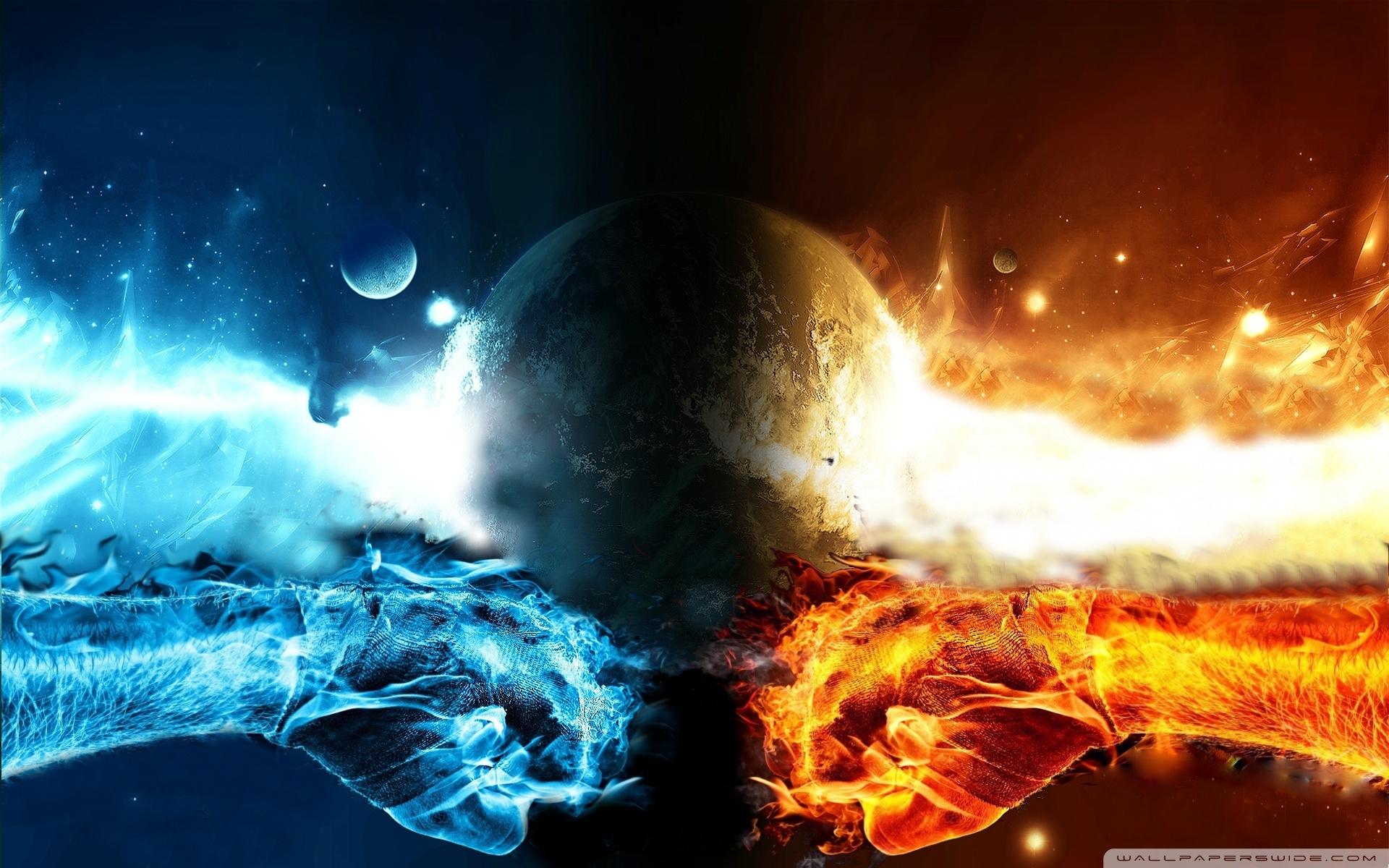 fire vs water ❤ 4k hd desktop wallpaper for 4k ultra hd tv • tablet