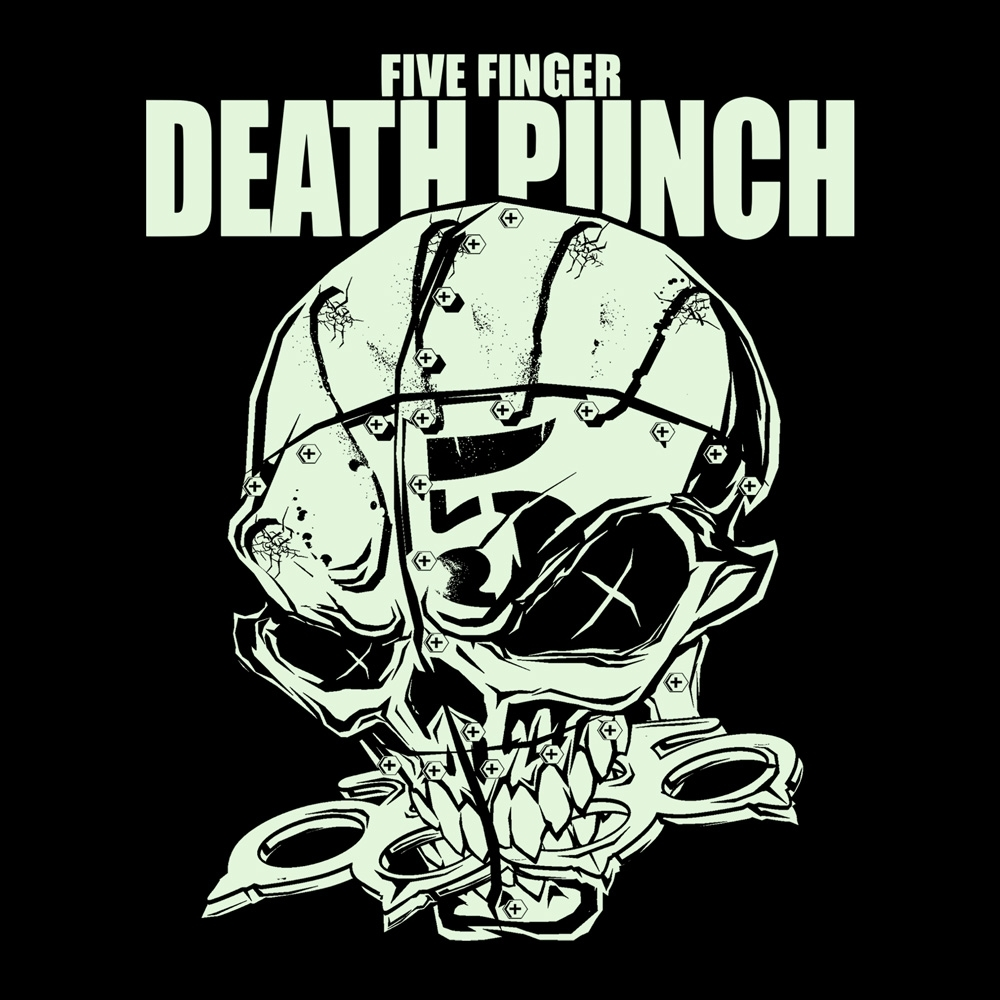 five finger death punch | knucklehead glow | t-shirt