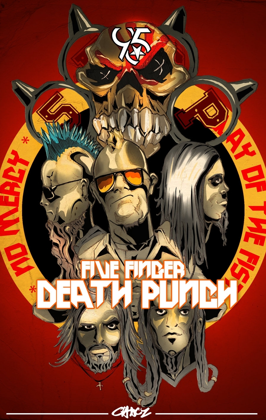 five finger death punch renderc-clancy.deviantart on