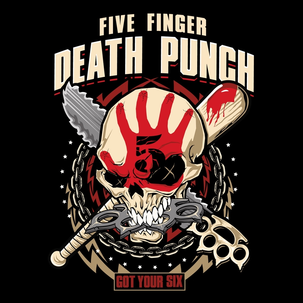 five finger death punch | zombie kill (black) | t-shirt