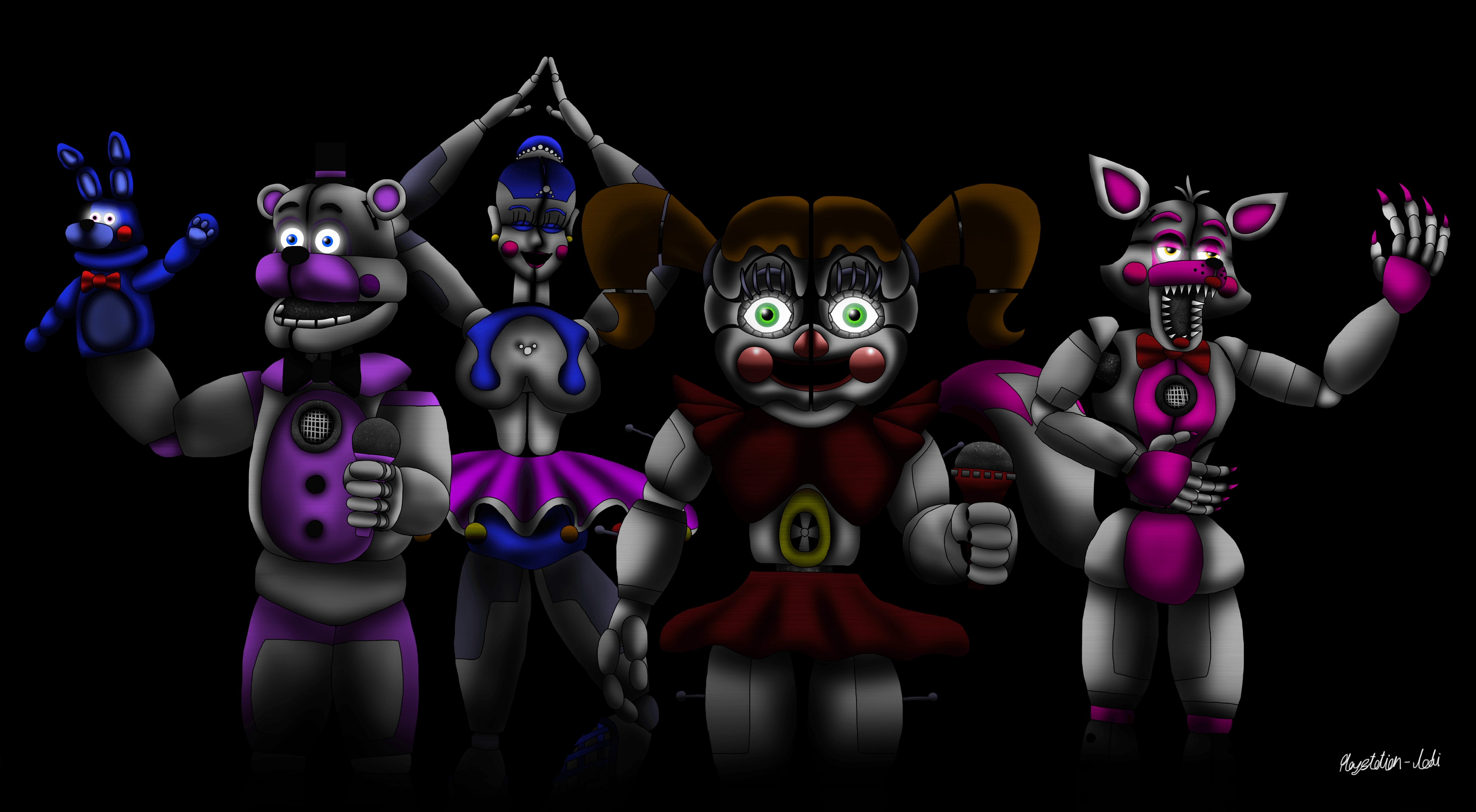 five nights at freddy's: sister location wallpapers - wallpaper cave