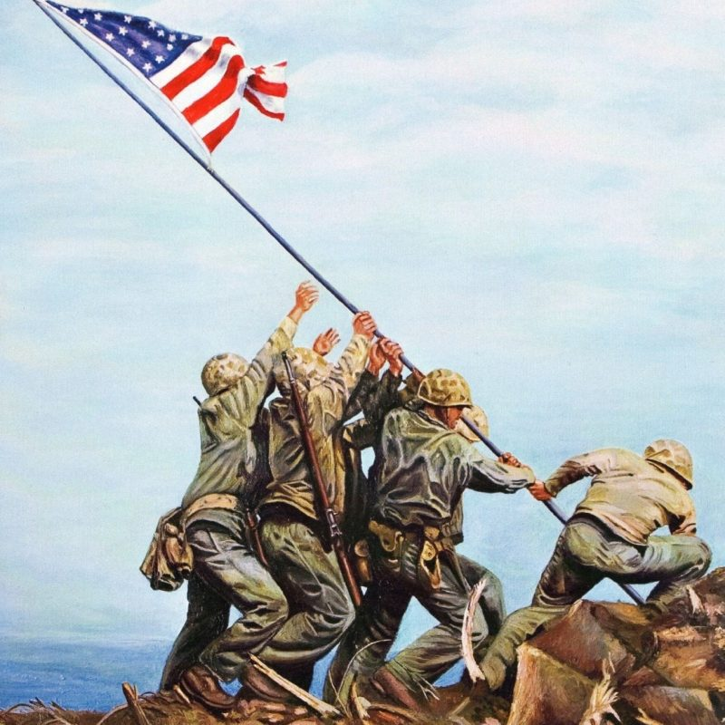 10 Top Raising The Flag On Iwo Jima In Color FULL HD 1080p For PC Desktop 2021 free download flag raising on iwo jima red white blue forever pinterest 1 800x800