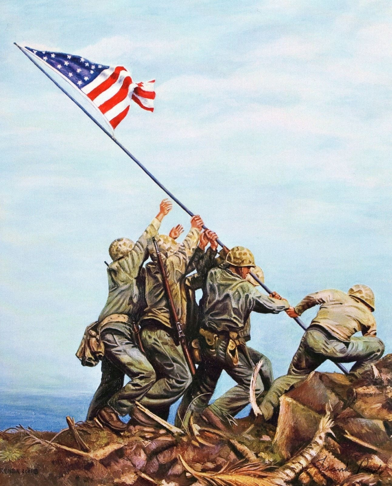 flag raising on iwo jima. | red white & blue forever | pinterest