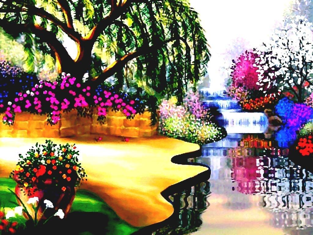 10 Top Free Flower Garden Wallpapers FULL HD 1920×1080 For