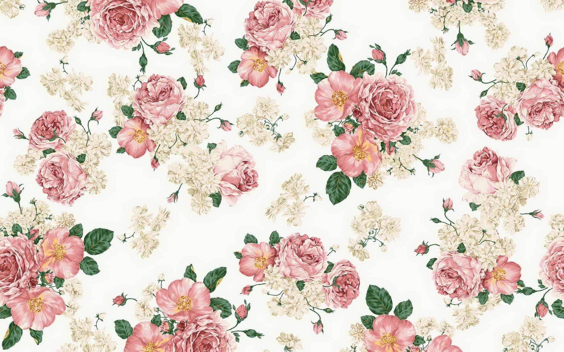 flowers pattern background wallpaper