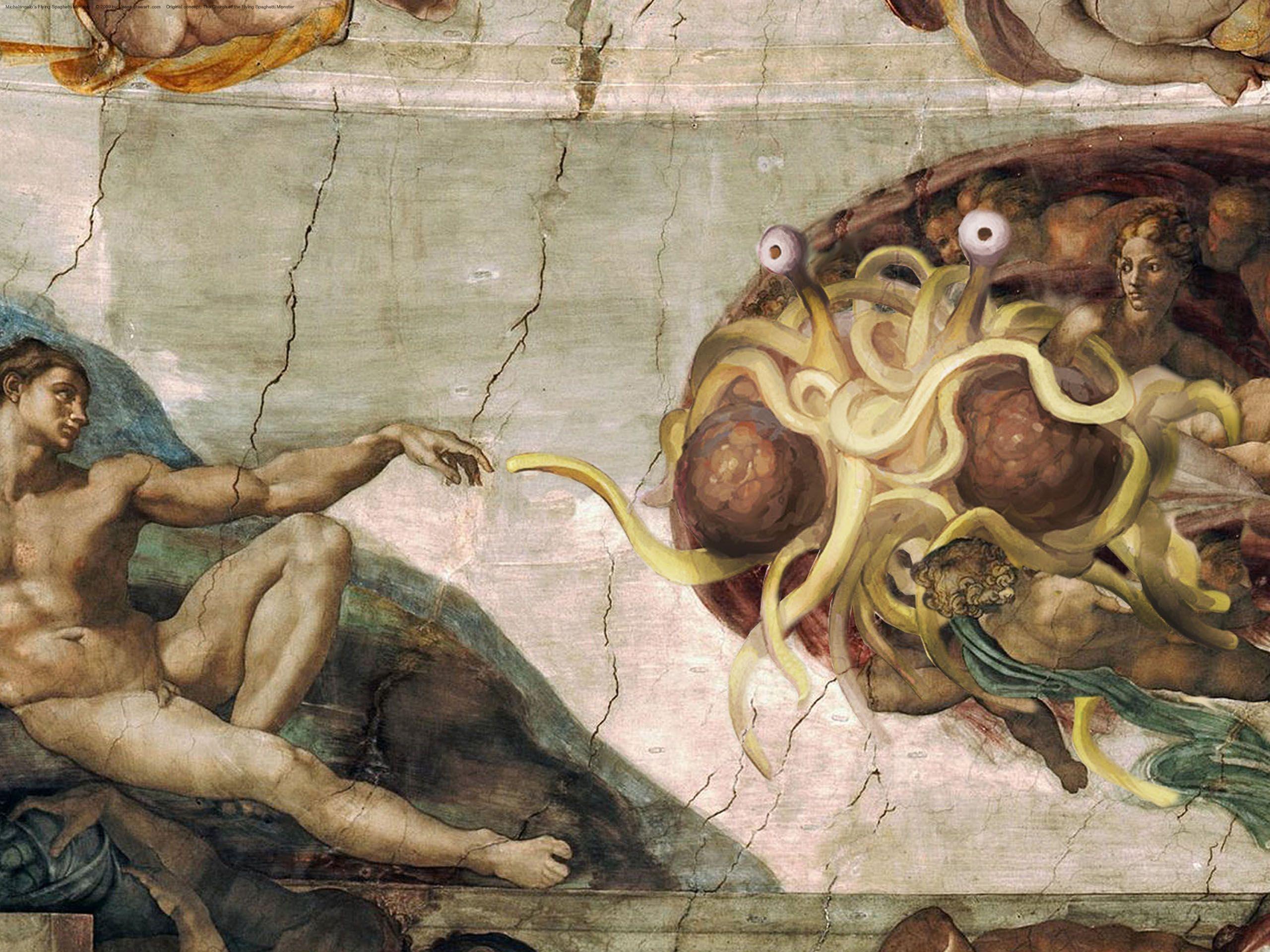 flying spaghetti monster wallpapers - wallpaper cave