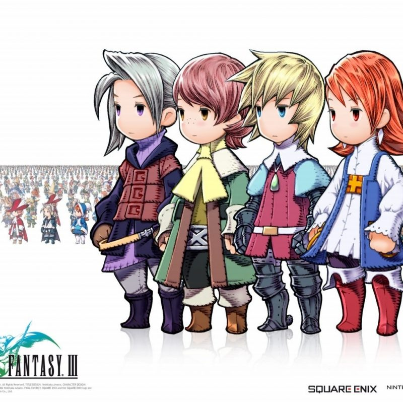 10 Best Final Fantasy 3 Wallpaper FULL HD 1080p For PC Background 2021 free download fond decran final fantasy iii ds personnages wallpaper 800x800