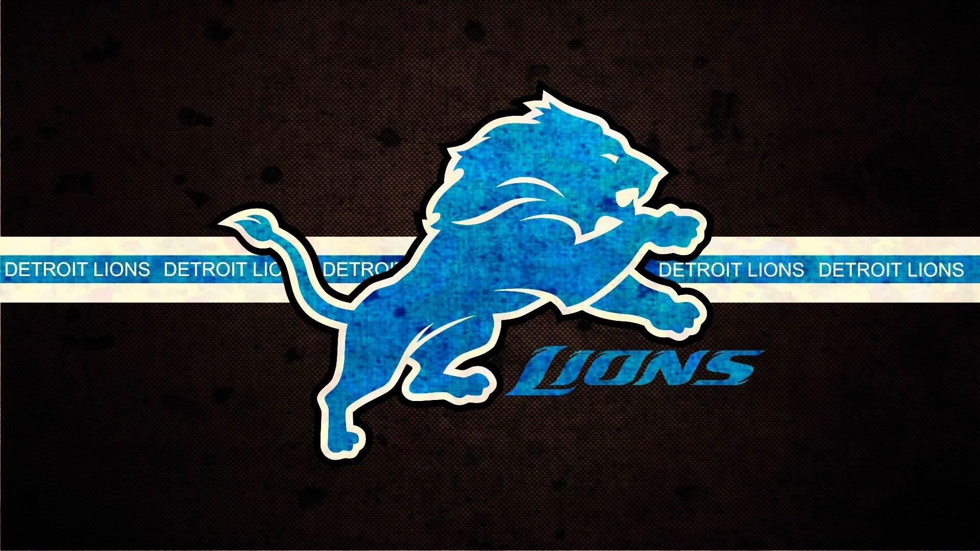 fond d'écran : logo, nfl, football américain, detroit lions, police