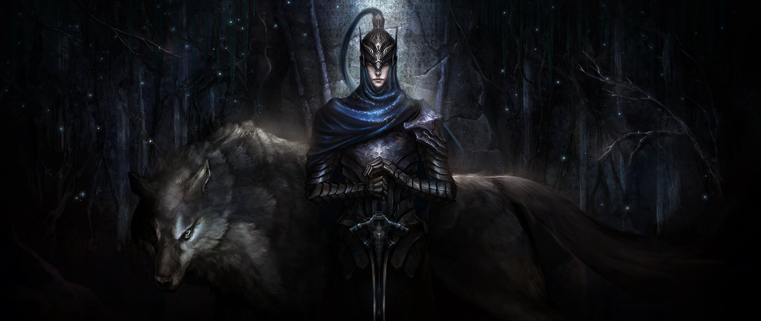 fonds d'ecran 2560x1080 dark souls chevalier loup knight artorias