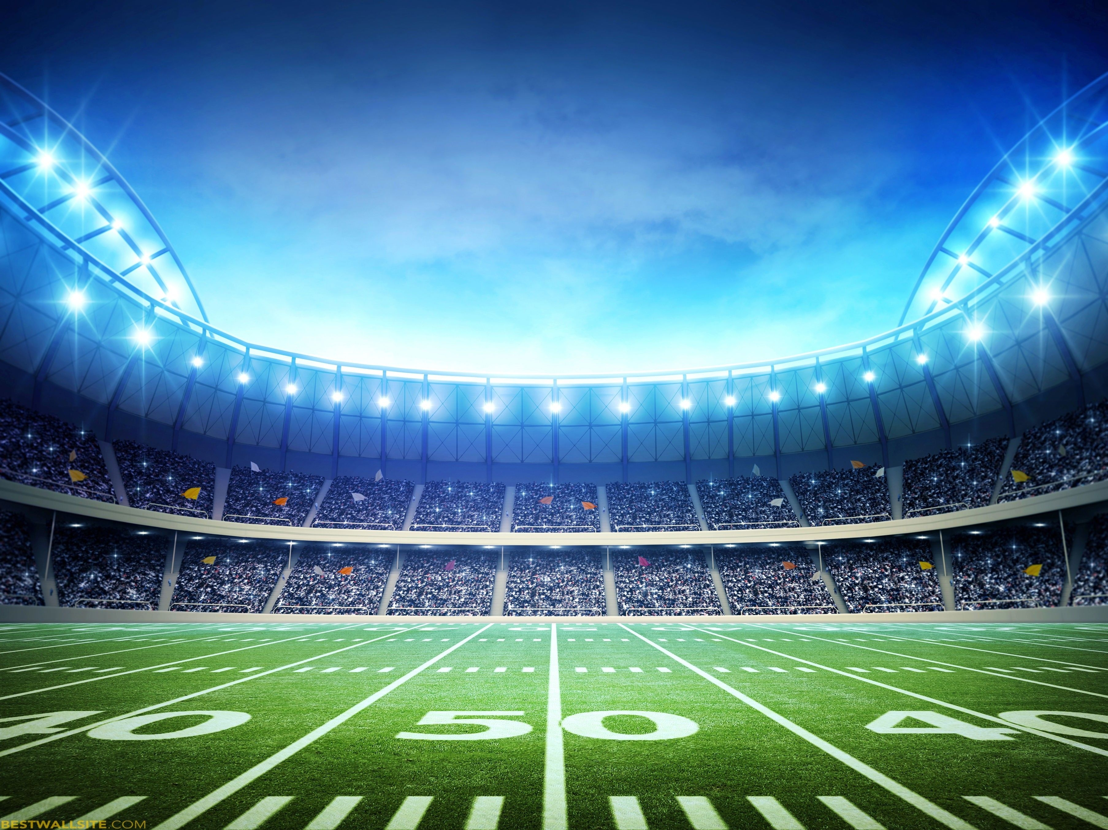 60 American Football Field Wallpapers: 10 Top American Football Field Backgrounds At Night FULL