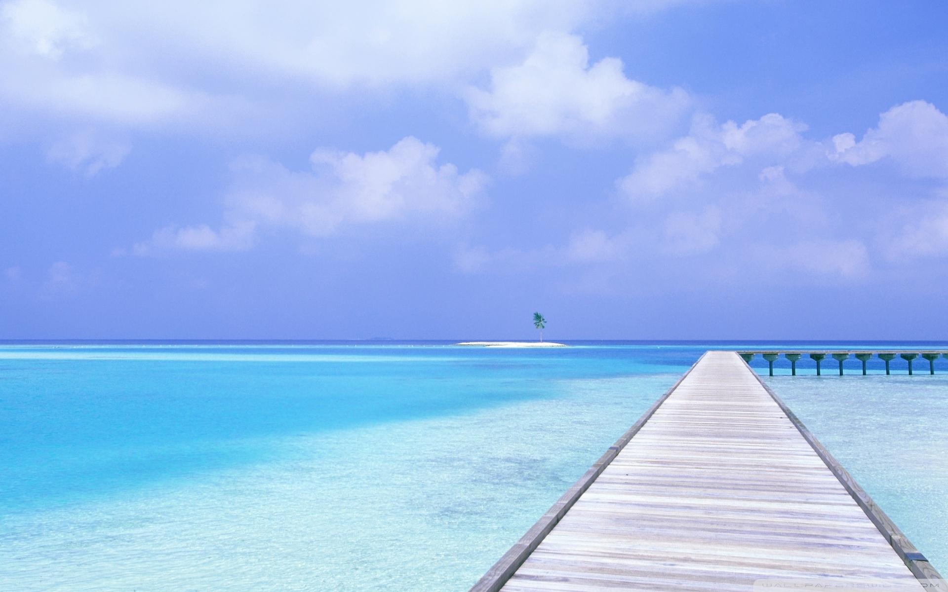 footbridge over blue ocean ❤ 4k hd desktop wallpaper for 4k ultra