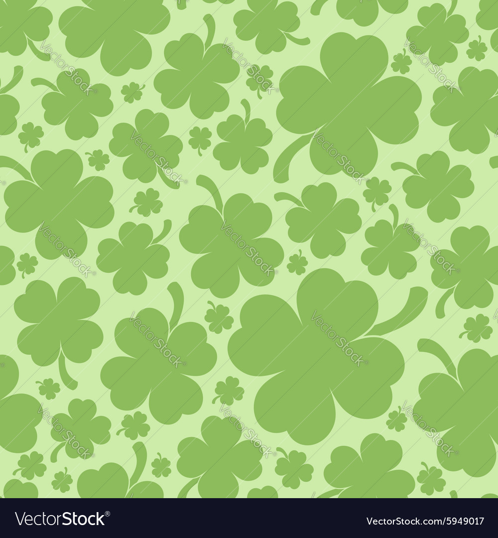 four leaf clover background royalty free vector image