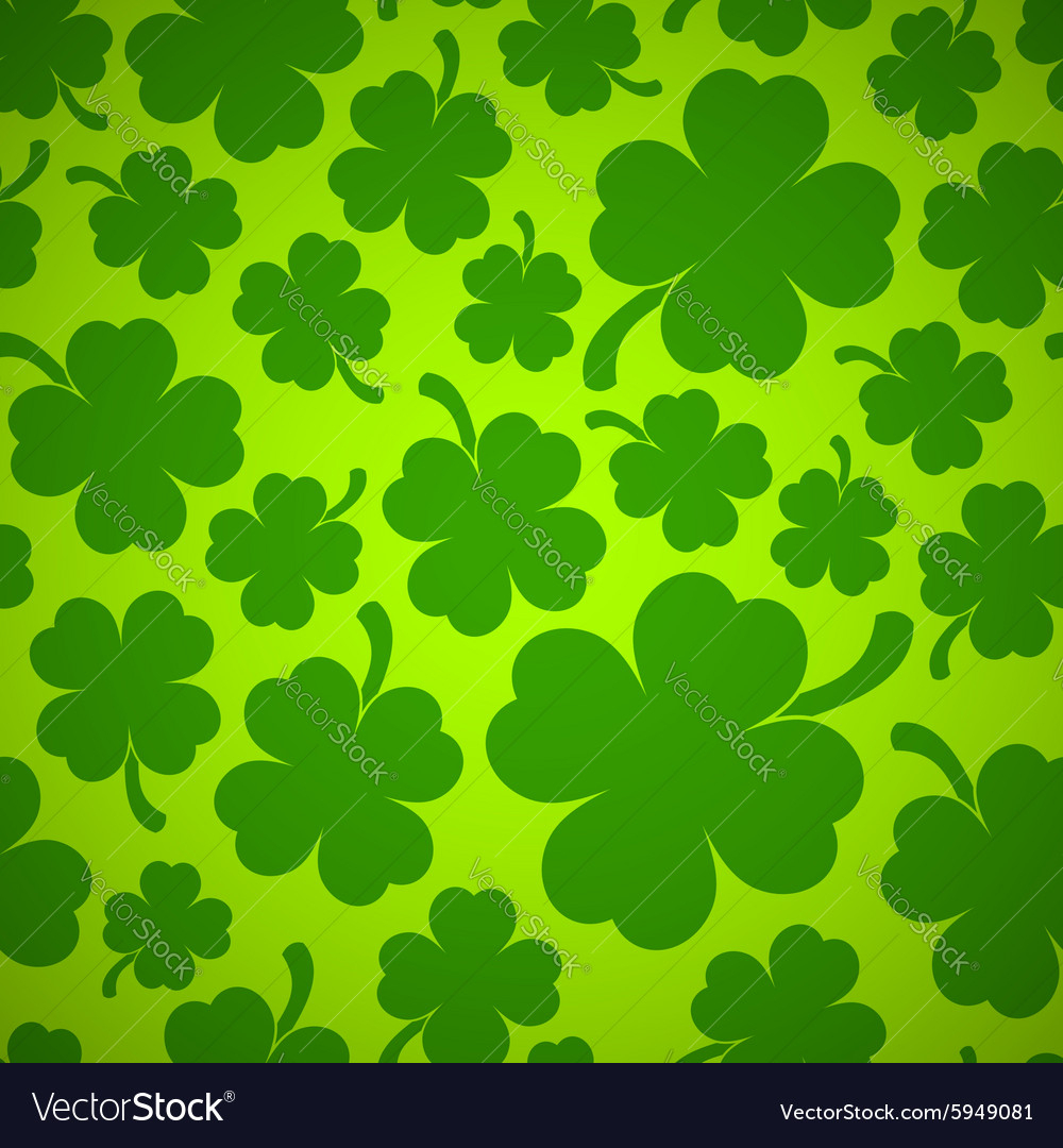 four-leaf clover background royalty free vector image