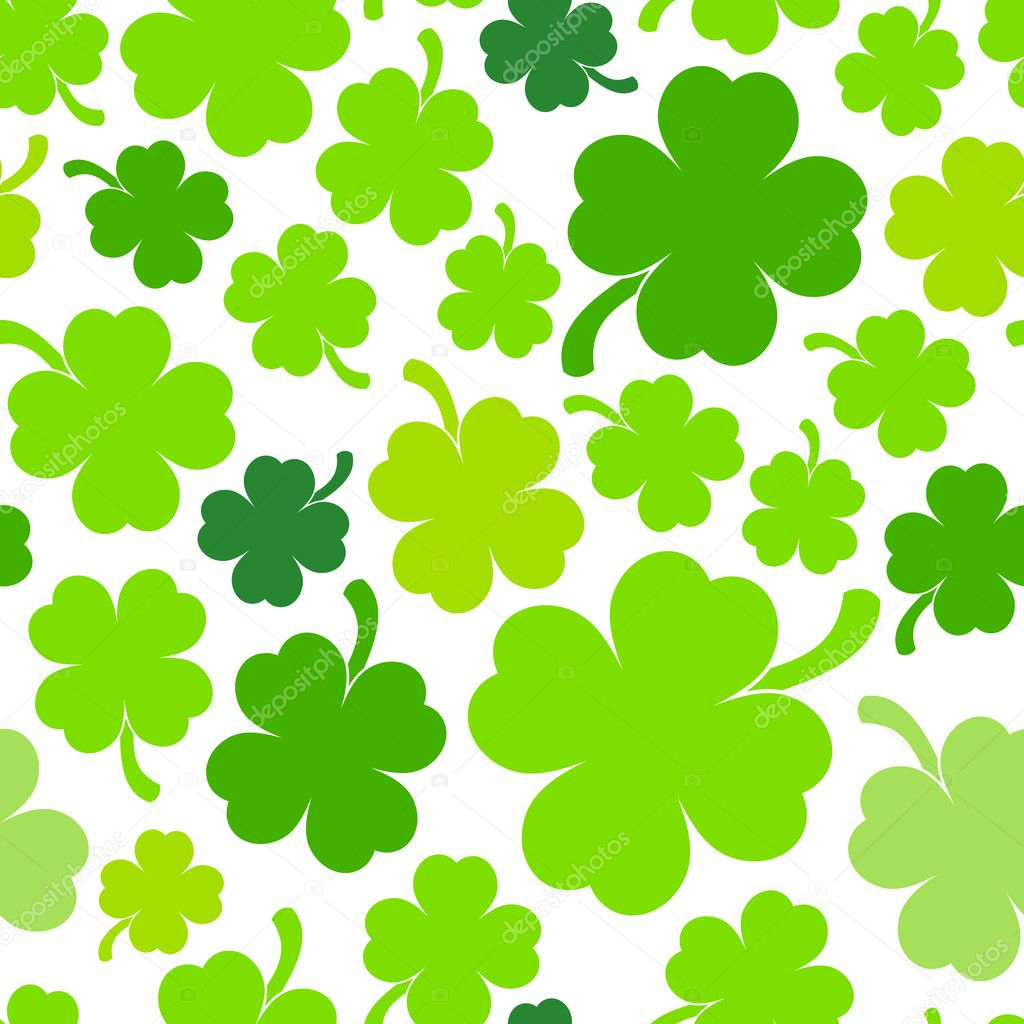 four-leaf clover background — stock vector © hollygraphic #42022685