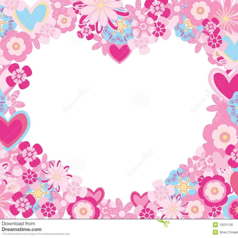 10 Best Pictures Of Flowers And Hearts FULL HD 1920×1080 For PC Background 2018 free download frame made of flowers and hearts stock vector illustration of 800x800